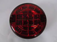 Фонарь задний универсальный круглый ISS 10402-K (красный )
