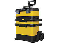 Металопластиковий ящик для інструменту на колесах Stanley 1-95-621 Rolling Workshop 57х41х72см