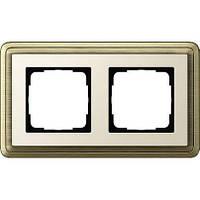 Рамка 2-пост. GIRA ClassiX бронза/кремовый