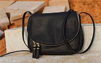 Стильная женская сумка-клатч через плечо Черный
