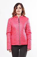 Женская весенняя коралловая куртка Саша 1-К 44-68 размеры