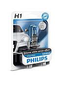 Галогенная лампа Philips White Vision H1 12V 55W (12258WHVB1)