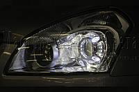 "Nissan Qashqai - установка би-ксеноновых линз Hella NEW original 3.0"" D2S"