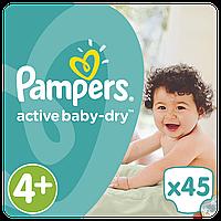 PAMPERS Детские подгузники Active Baby-Dry Maxi+ (9-16 кг) Упаковка 45