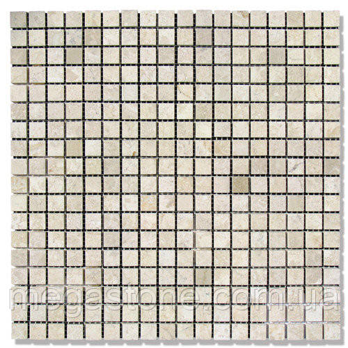 Мраморная мозаика МКР-4П (полированная) 15*15*6 Victoria Beige