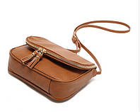 Стильная женская сумка-клатч через плечо Коричневый