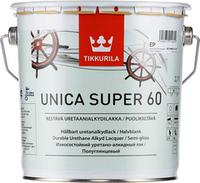 """Unica super 60. """"Уника супер 60"""" уретано-алкидный полуглянцевый лак 2,7 л"""
