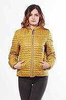 Женская весенняя горчичная куртка Саша 1-К 44-68 размеры