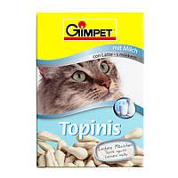 GimCat Topinis mit Milch лакомство для кошек в виде мышек с молоком, таурином и витаминами, 220г