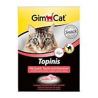GimCat Topinis mit Quark, Taurin und Vitaminen лакомство для кошек в виде мышек с таурином и комплексом витаминов со вкусом творога, 220г