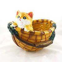 Кашпо корзина с котенком