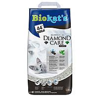 Biokats Diamond Care classic комкующийся наполнитель для кошачьего туалета с активированным углем и гранулами с алое вера, 8л