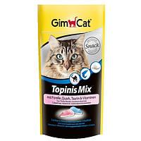 GimCat Topinis Mix витаминное лакомство для кошек в виде мышек с форелью, творогом и таурином, 40г
