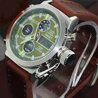 Армейские наручные часы AMST: AM 3003 Silver-Green
