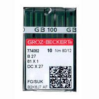 Иглы для промышленных оверлоков B27/81x1/DCx27/DCx1 80 FG/SUK Groz-Beckert