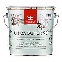 """Unica super 90. """"Уника супер 90""""  лак алкидный для дерева глянцевый 2,7 л"""
