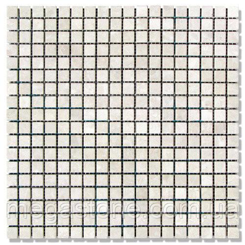 Мраморная мозаика МКР-4С (старенная/валтованная) 15*15*6 Victoria Beige