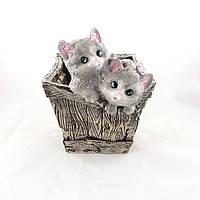 Кашпо котята в ящику