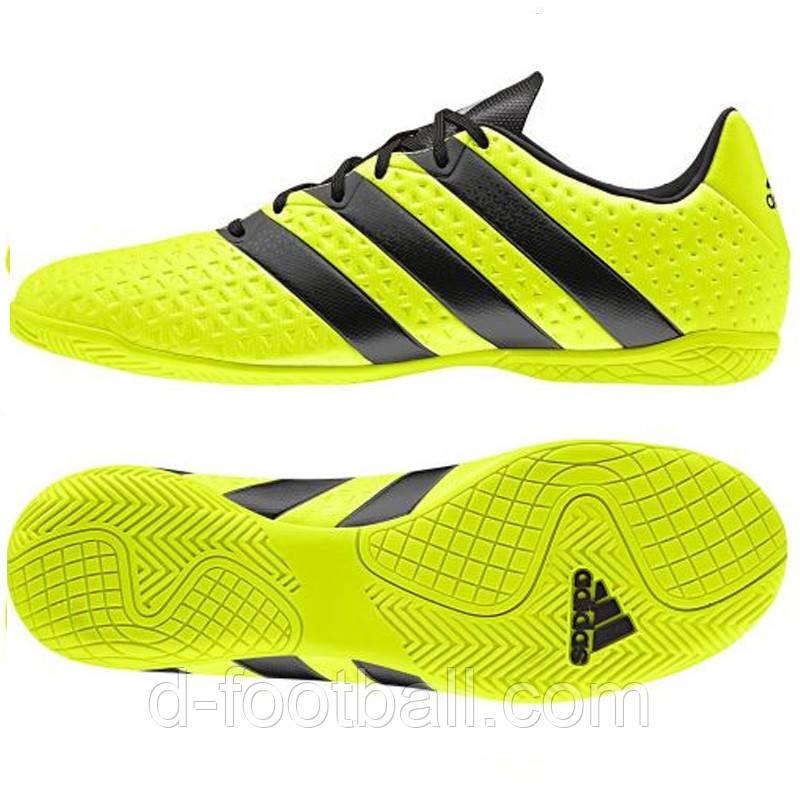 5e189d0aa0b8 Детские футбольные бутсы для зала Adidas ACE 16.4 IN JR BA8608 -  Интернет-магазин «