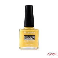 Лак для ногтей для стемпинга 10 мл G. Lacolor 003 желтый
