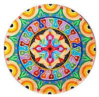 """Декоративная тарелка диаметром 37 СМ """"Счастье 37 """" шамотной трипольской глины станет изысканным"""