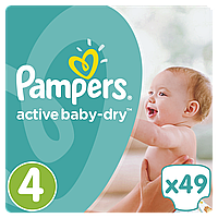 PAMPERS Детские подгузники Active Baby-Dry Maxi (8-14 кг) Упаковка 49