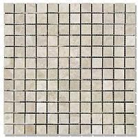 Мраморная мозаика МКР-2П (полированная) 23*23*6 Victoria Beige