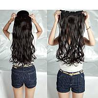Волосы на заколках затылочная прядь волна  №2 длина 55см