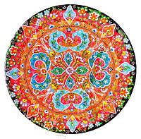 """Декоративная тарелка диаметром 42 см """"Восточный базар"""" шамотной трипольской глины станет изысканным"""