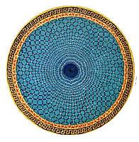 """Декоративная тарелка диаметром  42 см  """"Небесный бисер""""  шамотной трипольской глины станет изысканным"""