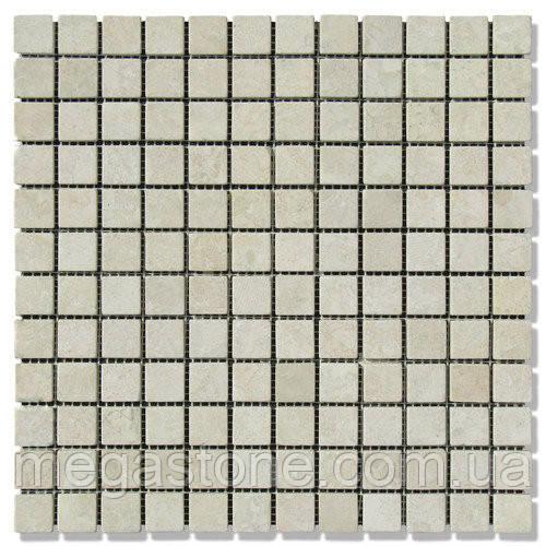 Мраморная мозаика МКР-2С (старенная/валтованная) 23*23*6 Victoria Beige
