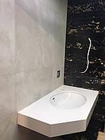 Столешница в ванной из кварца Hanstone BA-205 Royal Blanc