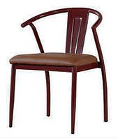 Стул металлический Энди, с мягким сиденьем из кожзама для бара, кафе, для дома, HoReCa и офиса