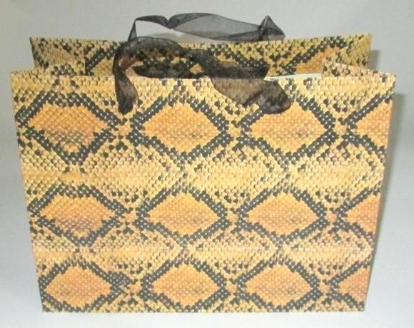 Сумка - пакет для подарков 25*19 см, Питон