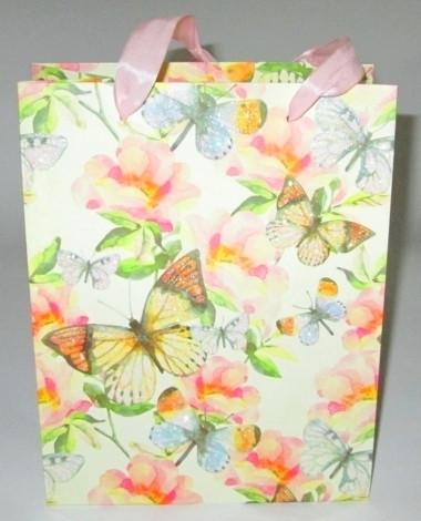 Пакет для подарков 23*18 см, Бабочки 3D
