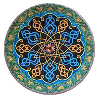 Декоративная тарелка диаметром 42 см «Манна Индии» шамотной трипольской глины станет изысканным