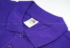 Мужское Поло Премиум Fruit of the loom Фиолетовое 63-218-Pe S, фото 2