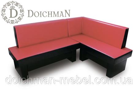 """Стильный угловой диван для кухни с выдвижными ящиками """"Дойчман"""""""