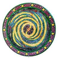 """Декоративная тарелка диаметром 42 см """"Галактика"""" шамотной трипольской глины станет изысканным"""