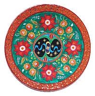 """Декоративная тарелка диаметром 42 см """"Вічна Україна. Весна"""" шамотной трипольской глины станет изысканным"""