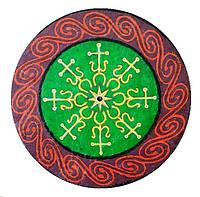 """Декоративная тарелка диаметром 42 см """"Трипольское знамение"""" из шамотной трипольской глины станет изысканным"""