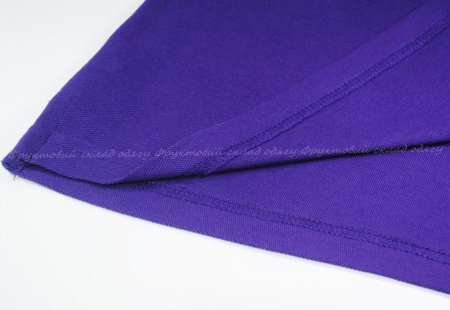 Фиолетовое мужское поло 100% хлопок