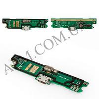Шлейф (Flat cable) Lenovo A830 с разъемом зарядки,   микрофоном,   плата зарядки