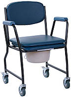 OSD Стул-туалет на колесах с мягким сиденьем OSD MOD-WAVE