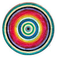 """Декоративная тарелка диаметром 42 см """"Спектр Дня""""  шамотной трипольской глины станет изысканным"""