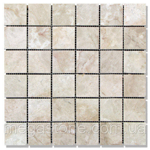 Мраморная мозаика МКР-3П (полированная) 48*48*6 Victoria Beige