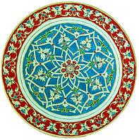 Декоративная тарелка диаметром 42 см «Солнце Моголов» штучная  шамотной трипольской глины станет изысканным