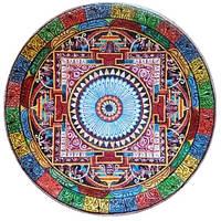 Декоративная тарелка диаметром 42 см «Наму-Мё-Хо-Рэн-Гэ-Кё»  трипольской глины станет изысканным
