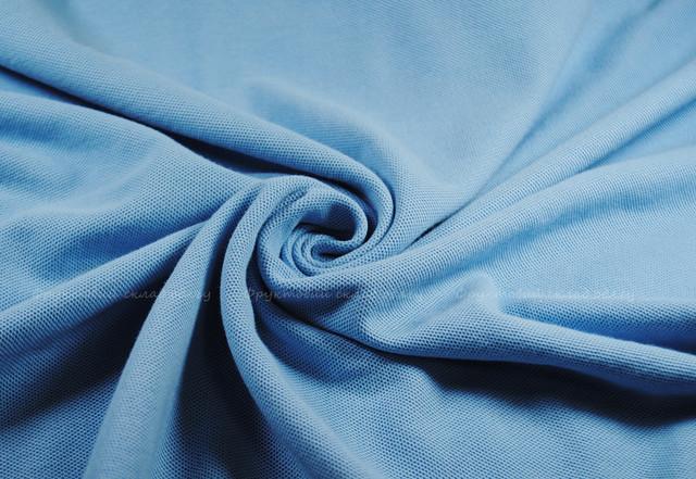 Небесно-голубое мужское поло 100% хлопок