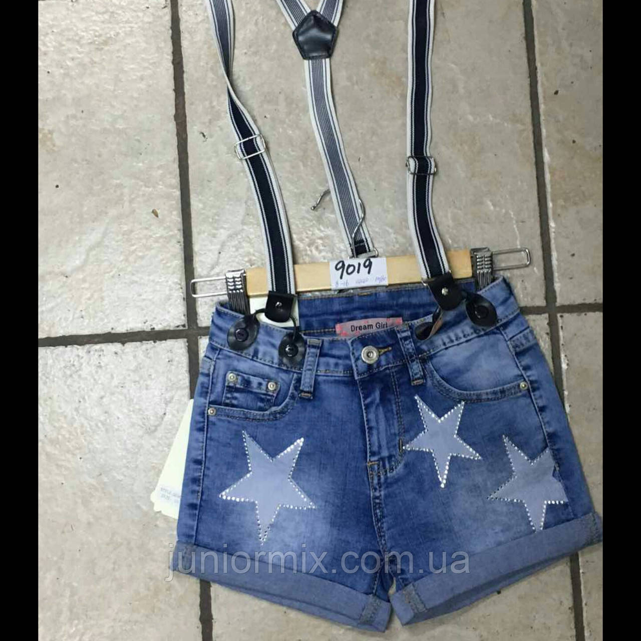 Джинсовые шорты с подтяжками  на девочку   Dream Girl